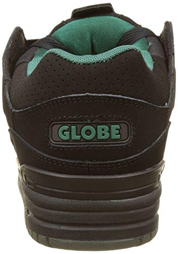 Globe Herren Fusion Skateboardschuhe Schwarz (Black/black/sea Green)