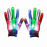 Eshall LED Bunte Blinklicht Handschuhe Kinder für Halloween, Weihnachten, Geburtstag, Feier