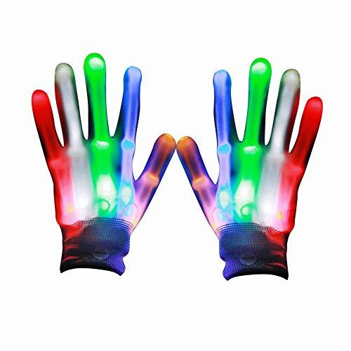 (Eshall LED Bunte Blinklicht Handschuhe Kinder für Halloween, Weihnachten, Geburtstag, Feier)