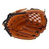 Guanti da Baseball, Professionale Guanto da Allenamento in PVC per la Pratica della Mano Sinistra per Baseball Sport da Combattimento, MMA e Arti Marziali (Brown)