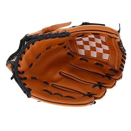 Alomejor Baseball Handschuh Kinderprofessionelle Linke Hand PVC Praxis Trainings Handschuh für Kinder Erwachsene(Braun) -