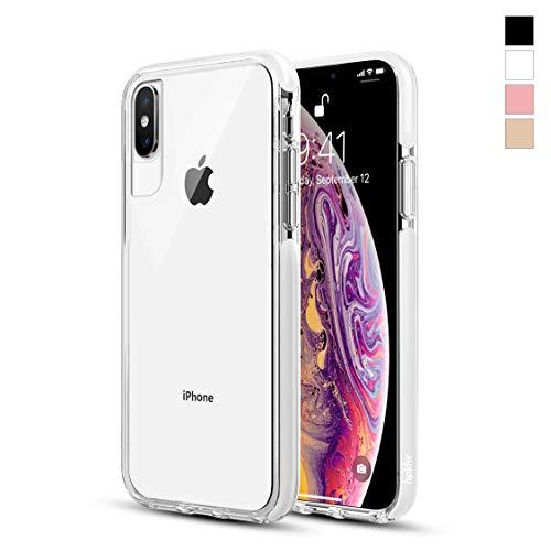 Ispider Hülle für iPhone XS/X, [3 Meter militärischer Grad Anti-Drop] Klar Handyhülle für Apple iPhone XS/X, Dual-Layer Rahmen [Stoßfest] [Kratzfest], MEHRWEG - Weiß -