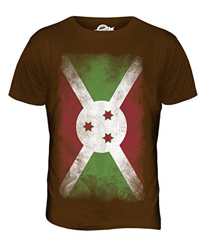 CandyMix Burundi Verblichen Flagge Herren T Shirt Braun