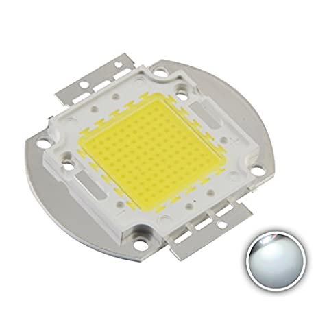 Chanzon High Power Led Chip 100W White (6000K-6500K / 3000mA / DC 30V-34V / 100 Watt) Super Bright Intensity SMD COB Light Emitter Components Diode 100 W Bulb Lamp Beads DIY