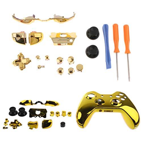 Kesoto Kompletter Schutz für die Haut für Xbox One Elite Controller + Zubehör zur Reparatur (Knöpfe + Schraubendreher)