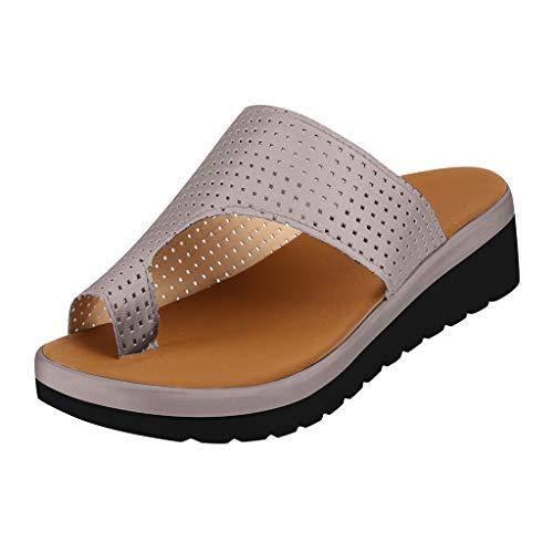 ✔piabigka✔ Scarpe da Donna comode con Plateau e Sandali da Viaggio per Spiaggia e Estate Slippers Sandali - 2019 New Women Comfy Platform Sandalo Shoes Summer Beach Shoes Tacco 5cm