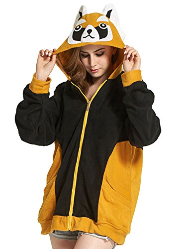 lover Rote Panda Erwachsene Unisex Cospaly Zipper Jacke (Wunderliche Halloween-kostüme)