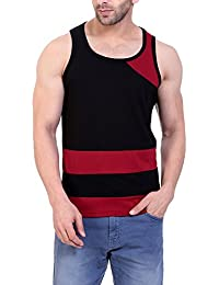 LIFEIDEA Men Vest Jockey For | Men Vest | Men Vest Half Sleeve | Men Vest Printed | Men Vest Design In Black And...