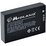 Midland C1124 Batterie Lithium 3,7 V 1700 mAh pour Caméscope Noir