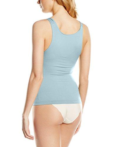 belly cloud Damen Unterhemd  figurformendes Seamless Top Blau (rauchblau 339)
