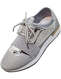 Kinlene Calzado Casual de Moda para Mujer Zapatos de tacón bajo Zapatillas de Punto Bajas para