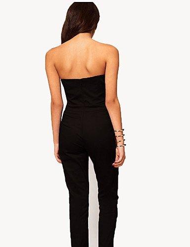 GSP-Combinaisons Aux femmes Sans Manches Sexy/Décontracté Polyester Moyen Micro-élastique black-l