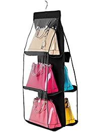 PIXNOR Organizador Colgador de bolsos para el armario con 6 bolsillo