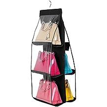 VORCOOL Pliage de range-placard penderie suspendu système de sac de rangement pour sac à main (noir)
