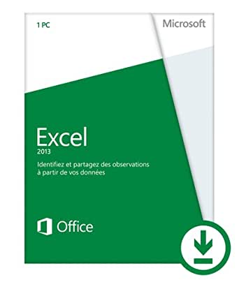 Microsoft Excel 2013 - 1 PC / 1 utilisateur  [Téléchargement]