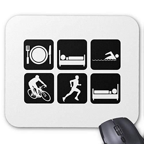 Drempad Gaming Mauspads Custom, Funny Triathlon Mouse Pad 11.8