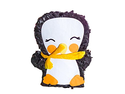 Pinguin Pinata Zum Befüllen mit Süßigkeiten (groß) | Pinata Einschulung | Perfekt als Geburtstags-Spiel, für Den Kinder-Geburtstag