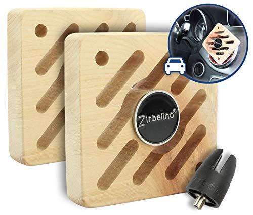 Zirbelino Original Lot de 2 désodorisants pour Voiture avec Support magnétique Rotatif + jeton de Courses