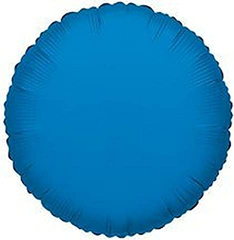 "Kaleidoscope Royal Blue Round Foil Mylar Balloon, 18"", Pack of 5"