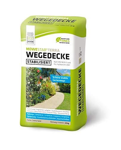 MOWESTAB TERRA Wegedecke Crema-Sand 0-8 mm 25 kg - für stabile Gartenwege - Crema-Sand 0-8 mm 25 kg -