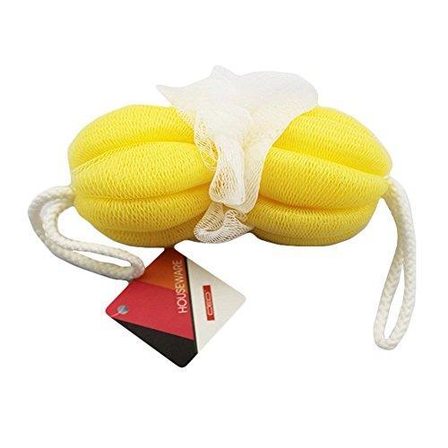 Douche éponge Exfoliant boule de bain / Bain Strap, Jaune