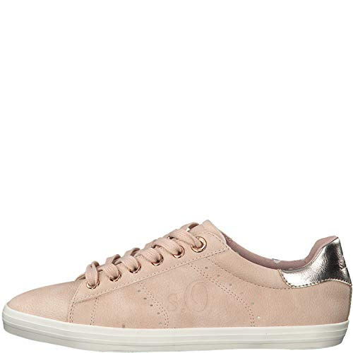 s.Oliver Damen Low-Top Sneaker 23638-22,Frauen Halbschuh,Sportschuh,Schnürschuh,atmungsaktiv,Rose,37 EU