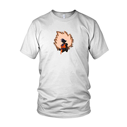 DBZ: Goku Power - Herren T-Shirt Weiß