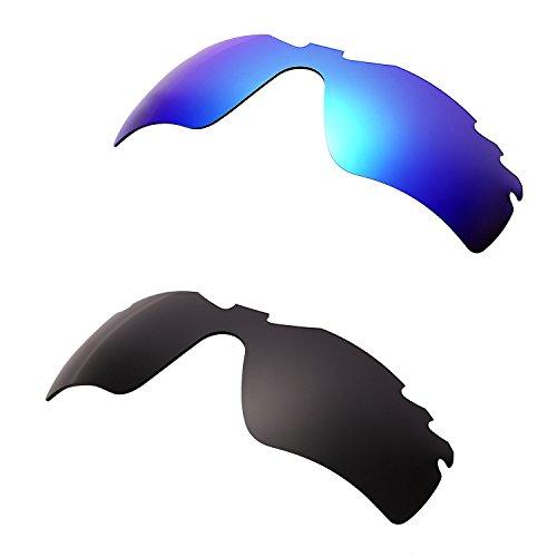 HKUCO Mens Replacement Lenses For Oakley Radar Path-Vented Sunglasses Blue/Black Polarized