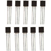 Sharplace 100pcs BC547 TO-92 NPN Transistores de Silicio Planar Epitaxial Multímetros