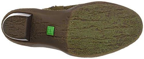 El Naturalista Nf77 Lux Suede Pleasant Lichen, Stivaletti Donna Multicolore (Kaki / Brown)