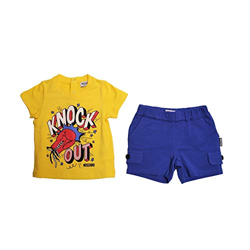 Moschino t-shirt più short bambino taglia 6/9 mesi