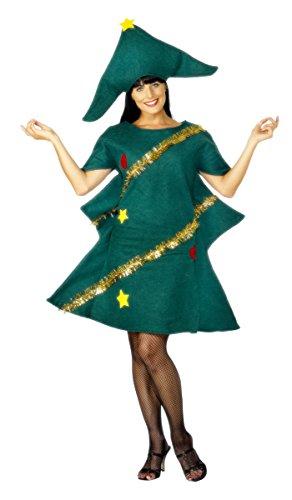 Costume abete di Natale donna Taglia Unica