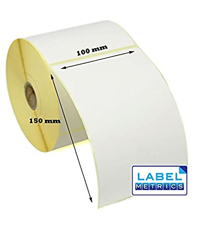 Label Metrics 100 x 150mm WHITE Direct Thermal Labels -