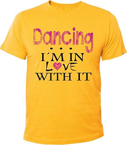 Mister Merchandise Herren Men T-Shirt Dancing - I´m in love Tee Shirt bedruckt Gelb