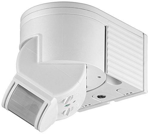 goobay Infrarot Aufputz-Bewegungsmelder für Innen- und Außenbereich – 180° Arbeitsfeld – Reichweite bis 12m – Dreh-/Neigbarer Erfassungsbereich – IP44 Schutzklasse – Spritzwasser geschützt – Weiß - 2