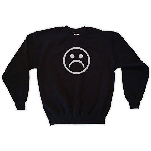 Outsider. Herren Unisex Sad Face Sweatshirt - Schwarz - L