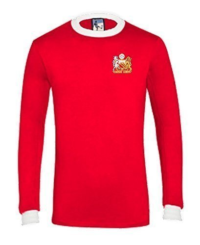 Retro Manchester United 1970s Long Sleeved Football T Shirt New Sizes S-XXL Embroidered Logo
