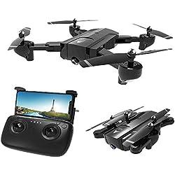HAHA GPS Drone, Drone con Cámara HD, Quadcopter WiFi,Avión Radiocontrol con Follow Me, 120º Gran Angular, Control Remoto, Altitude Hold, Modo Sin Cabeza