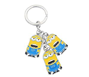 despicable me - cute minions 3 friends metal keychain