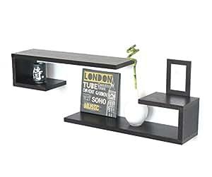 2 x wandregal wenge b den f r wohnzimmer schlafzimmer braun ci ma k che haushalt. Black Bedroom Furniture Sets. Home Design Ideas