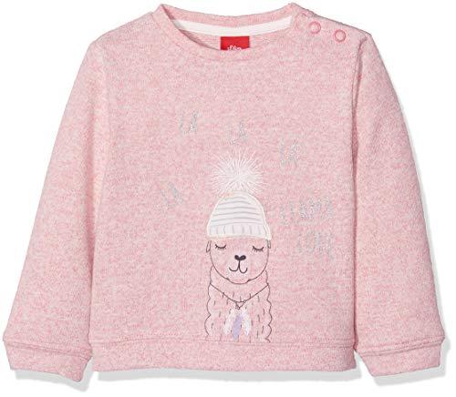 s.Oliver Baby-Mädchen Sweatshirt 65.809.41.8245, (Pink Melange 43w6), 80