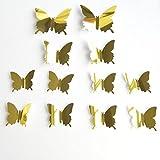 DIY PVC Sticker Wallpaper Aufkleber, Stillshine - 3D Stereo Mirror Butterfly Wall Aufkleber und Wandbilder Wand Aufkleber Wallpaper abnehmbare Wand Dekor dekorativ (Stil 2)