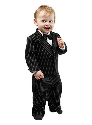 Schicker Taufanzug/Baby-Anzug 5-teilig, schwarz mit Nadelstreifen, ca. 3-6 Monate (68)