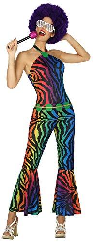 Kostüm Besten Disco - ATOSA 38617 Disco Kostüm, Damen, mehrfarbig, XL