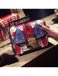 SLB Works Brand New Fashion Women Leather Handbag Graffiti Printing Messenger Bag Shoulder Bag Tote