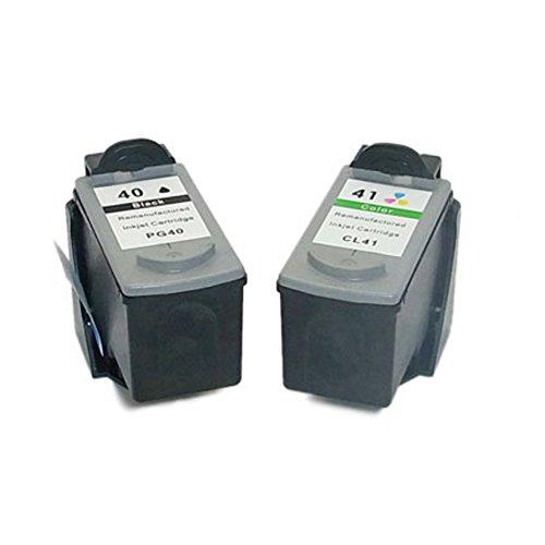 Cartuccia d'inchiostro Generico rigenerata in sostituzione di Canon PG40 CL41 (1x Nero, 1x Farbe, 2 (Rigenerata Sostituzione)