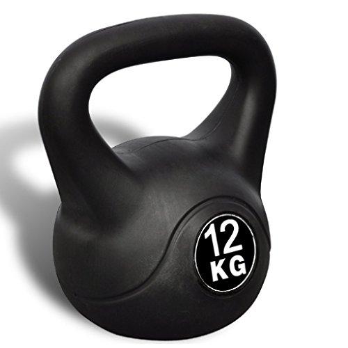 Festnight Kettlebell 12 kg, 22.5 x 22.5 x 32 cm