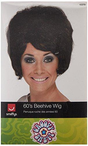 Preisvergleich Produktbild Smiffys, Damen 60er Jahre Bienenstock Perücke, One Size, Schwarz, 42272