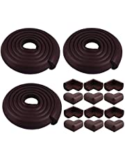 Store2508® Combo Pack of Child Safety Strip Cushion & Corner Guards for Baby Safety Child Proofing with Free Child Safety Lock, Safety Door Stopper & Socket Guard Cover. (Brown)