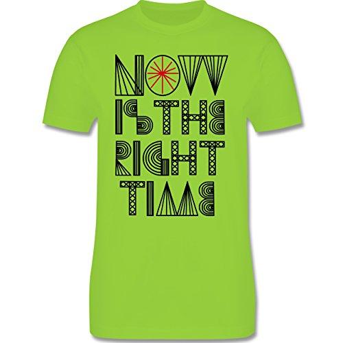 Statement Shirts - Now is the right time - Herren Premium T-Shirt Hellgrün